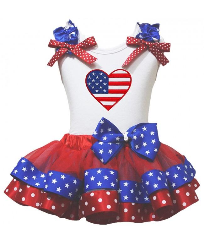 Petitebella Heart White Shirt Patriotic