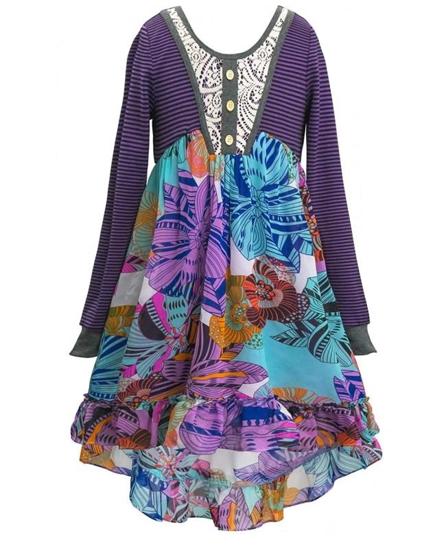Girls Sleeve Dress Options Purple