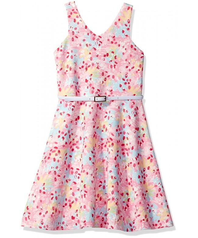 Lavender Girls Sleeveless Dress Flare