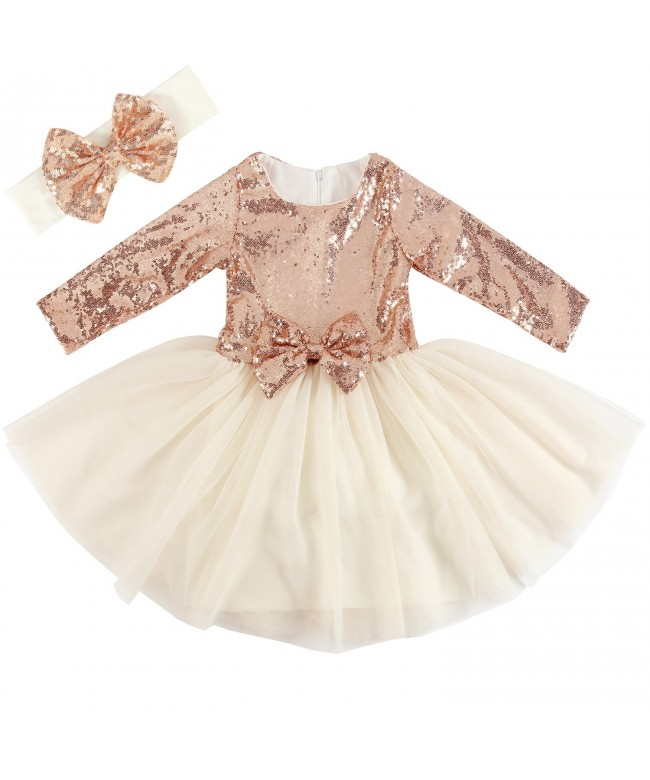 Cilucu Dresses Toddlers Pageant Offwhite