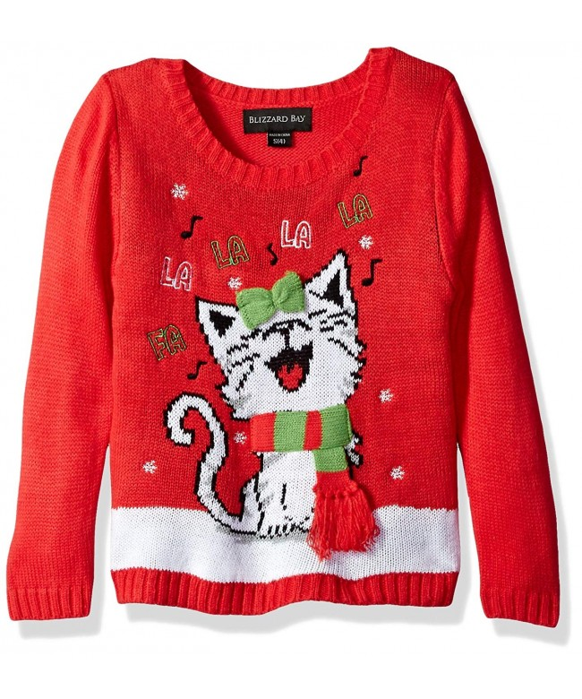 Blizzard Bay Girls Christmas Sweater
