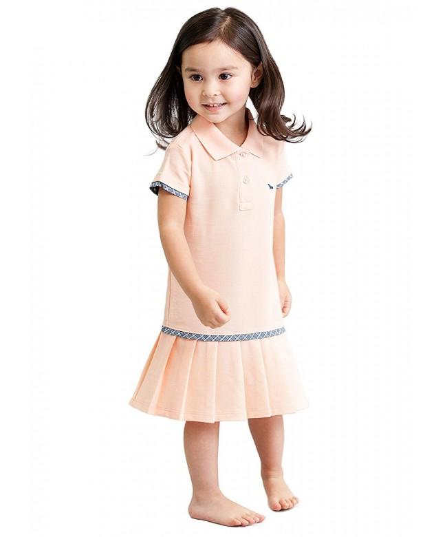 Toddler Girls Light Orange Dress