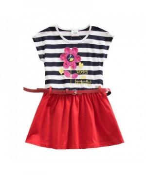 JUXINSU Sleeved Summer Cotton Stripes