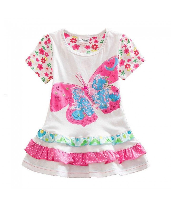 JUXINSU Cotton Short Sleeved Butterfly Clothes