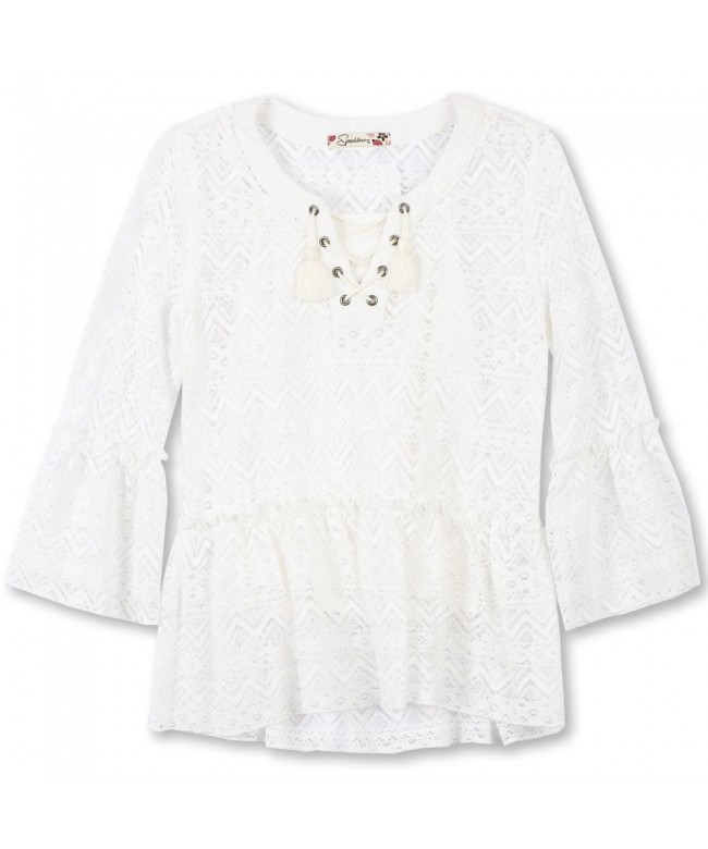 Speechless Girls Front Lace Sleeve
