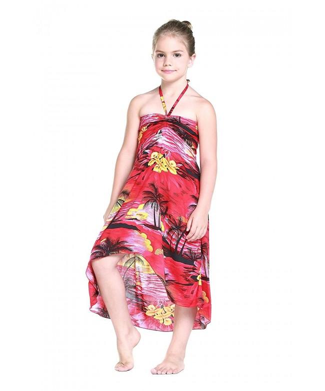 Girl Hawaiian Butterfly Dress Sunset