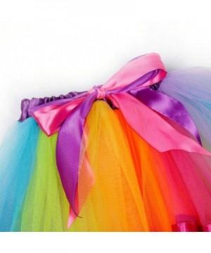 KEPATO Rainbow Tutu Skirt Girls Layered Rainbow Tutu Skirt Bow Birthday Party Halloween Cosplay Party
