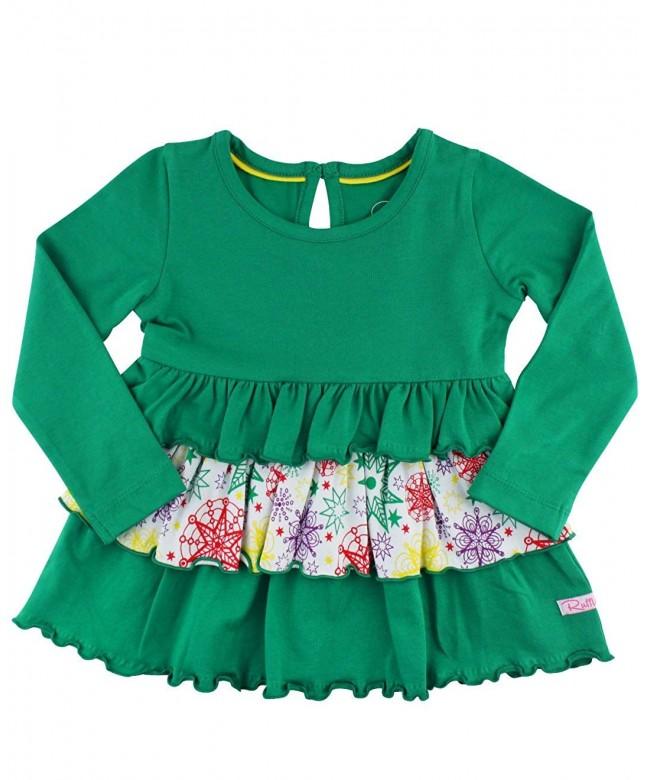RuffleButts Little Emerald Sleeve Ruffles