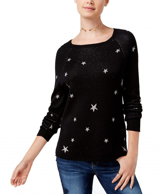 Ultra Flirt Juniors Star Print Sweater