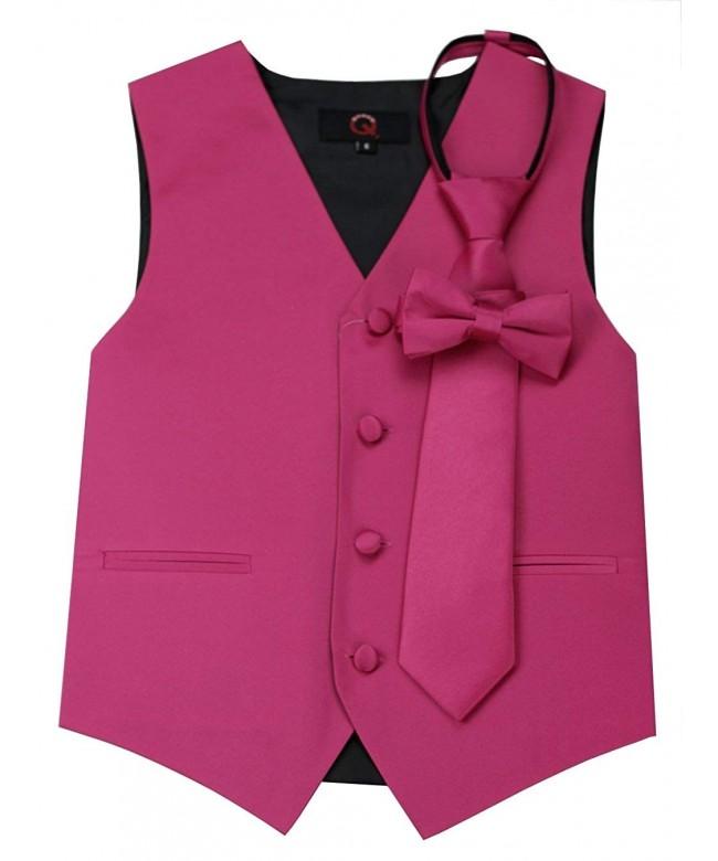 Brand Tuxedo Zipper Bow Tie Fuschia