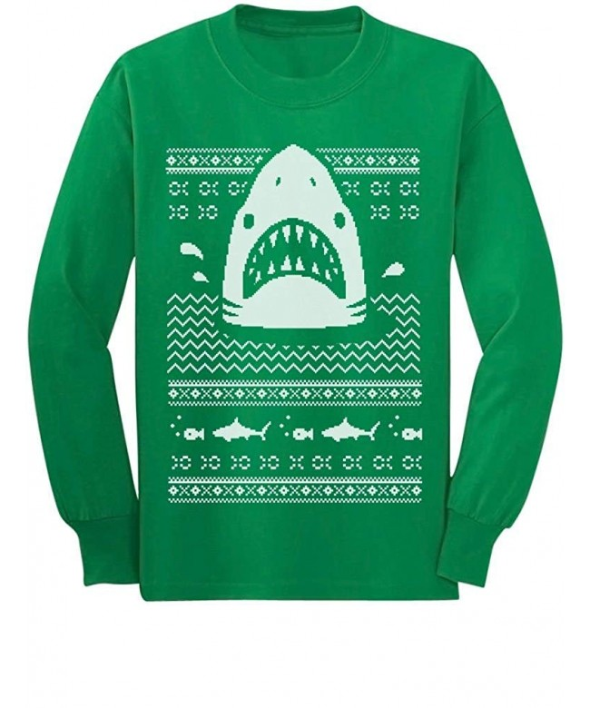 Great White Shark Ugly Christmas Sweater Youth Kids Sweatshirt Gift