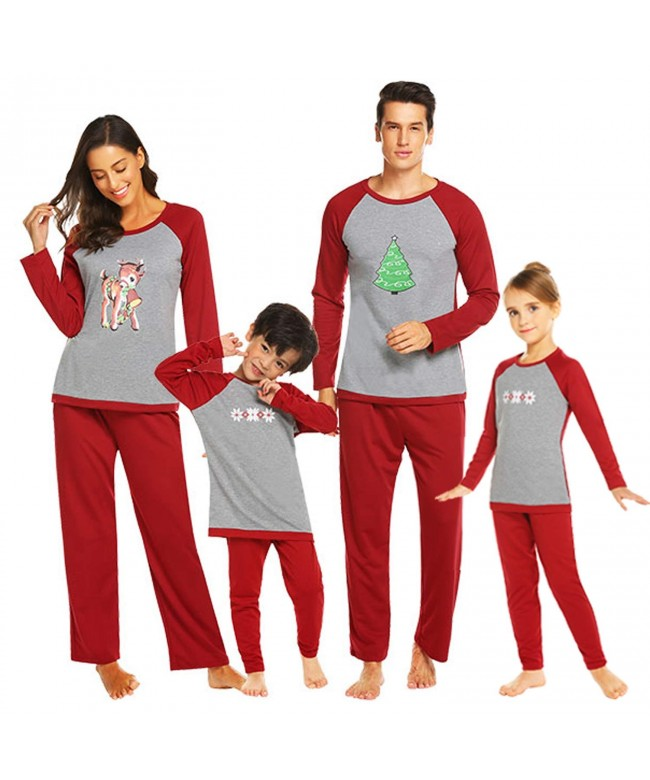 Ekouaer Matching Family Pajamas Sleepwear