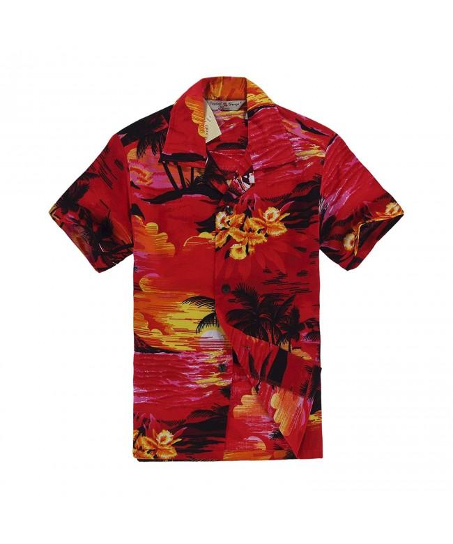 Boy Hawaiian Shirt Cabana Sunset