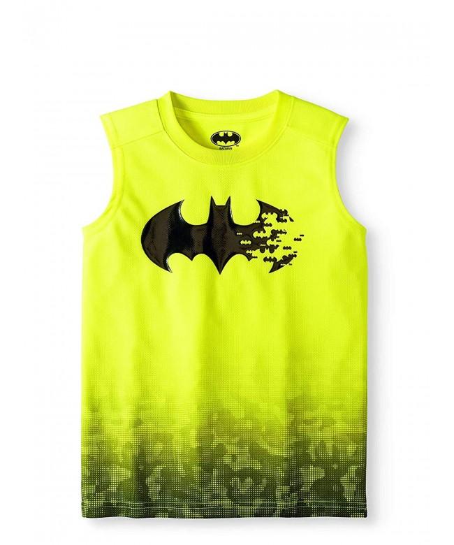 Fashion Batman Yellow Sleeveless Muscle