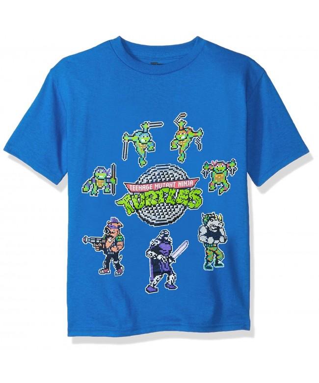 Nickelodeon T Shirtnage Turtles Pixelated Characters