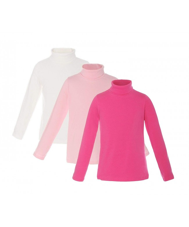ReliBeauty Cotton Turtleneck Sleeve T Shirt