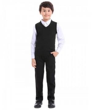 TOPTIE Sleeveless Pullover Uniform Sweater
