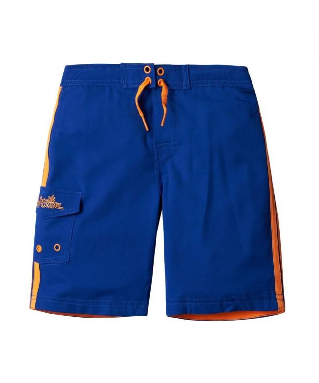UV SKINZ Racer Stripe Shorts Navy