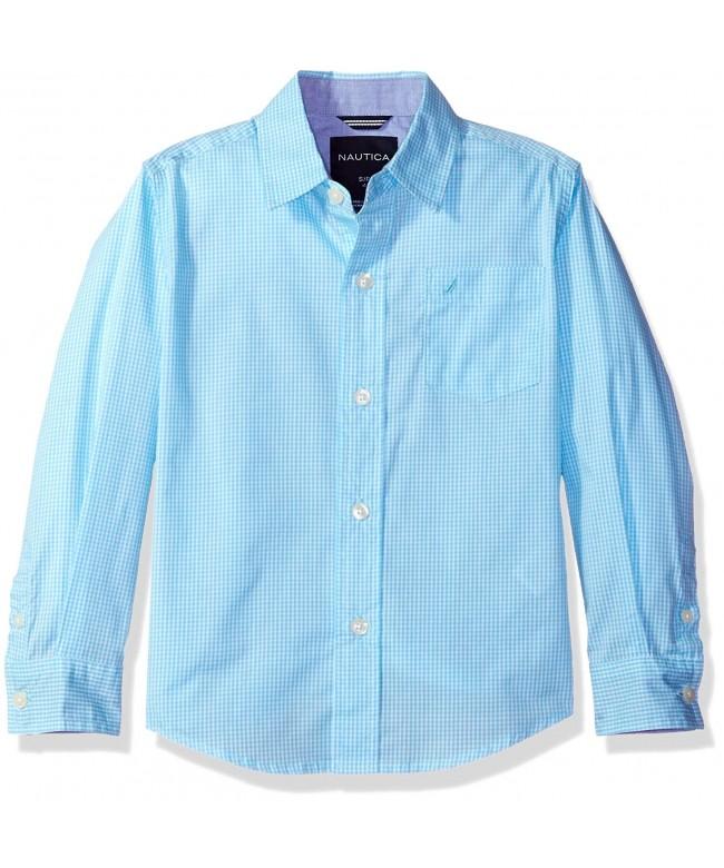 Nautica Sleeve Gingham Woven Shirt
