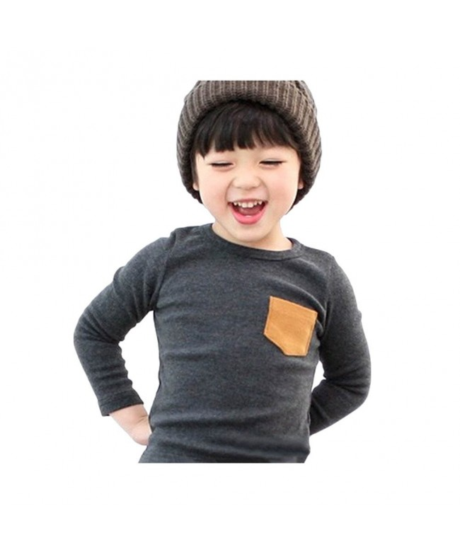 Weixinbuy Toddler Cotton Sleeve Pullover