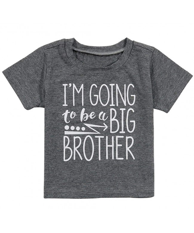 UNIQUEONE Going Brother Letter T Shirt