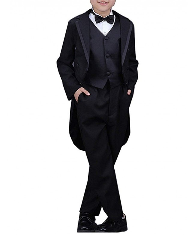 YUFAN Black Pieces Tuxedo Tailcoat