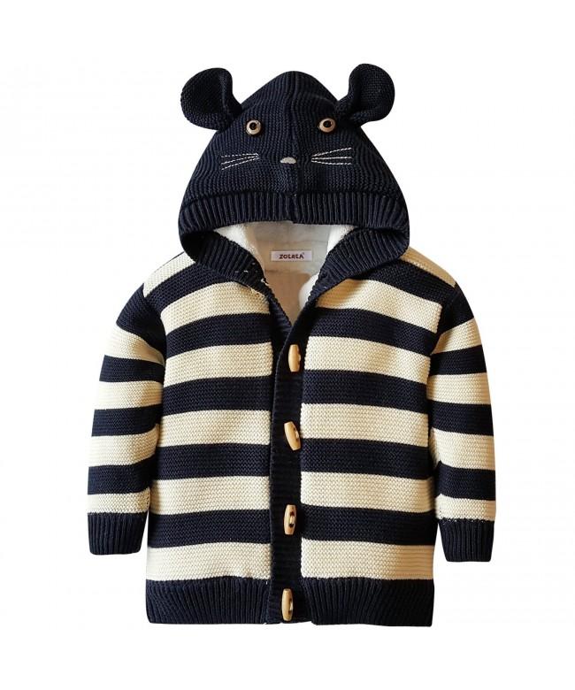 ZOEREA Striped Hoodies Pattern Sweater