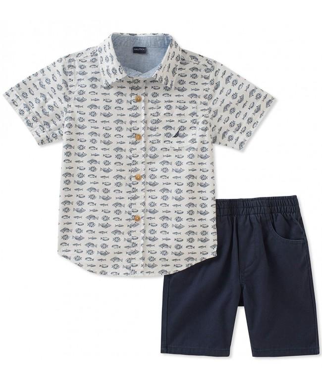 Nautica Boys Shirt with Shorts