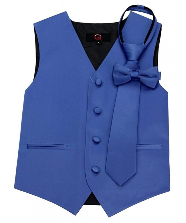 Brand Tuxedo Zipper Bow Tie Royal