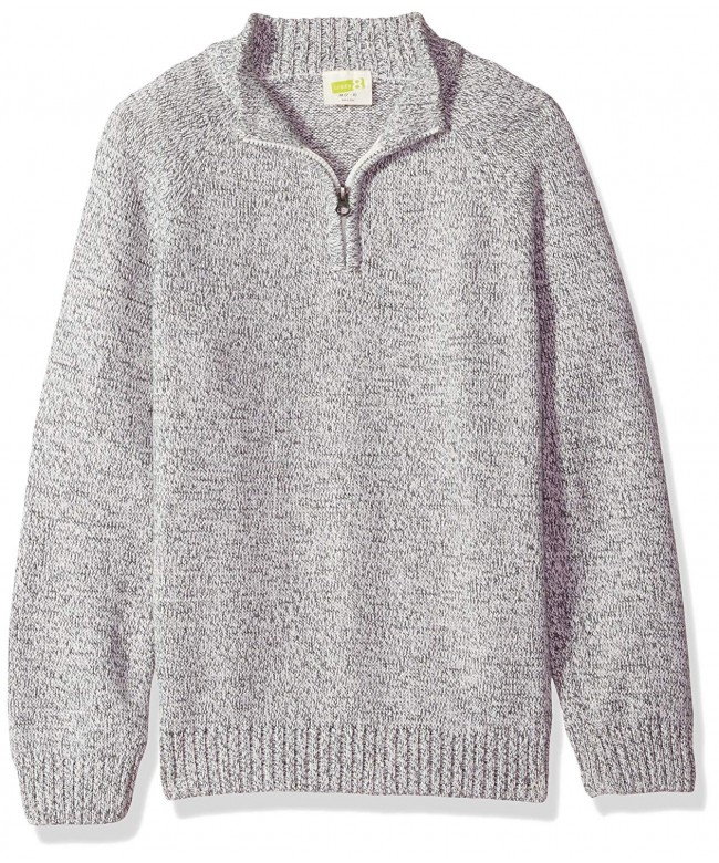 Crazy Boys Half Zip Pullover Sweater