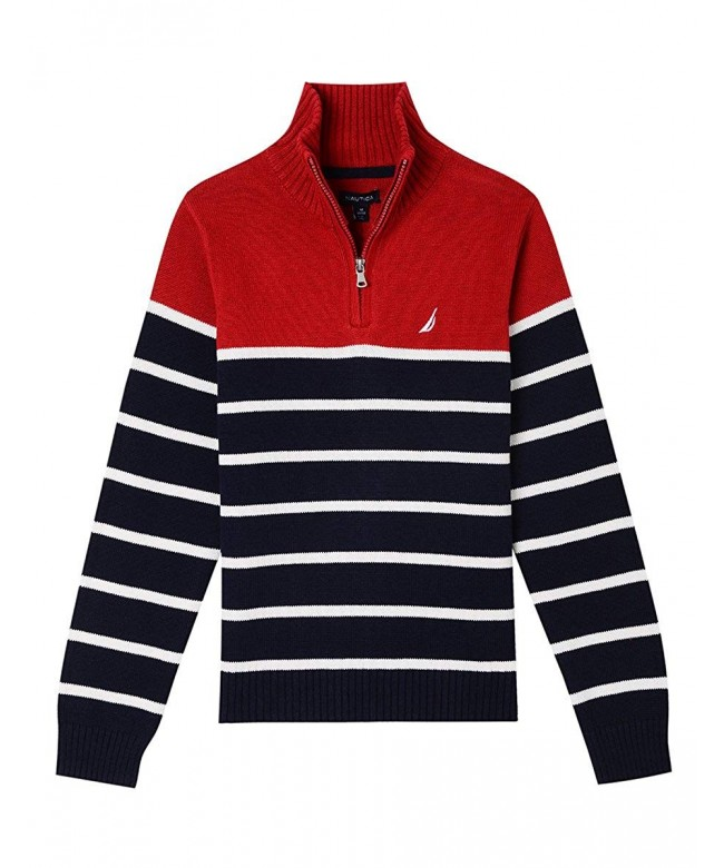 Nautica Boys Neck Stripe Sweater