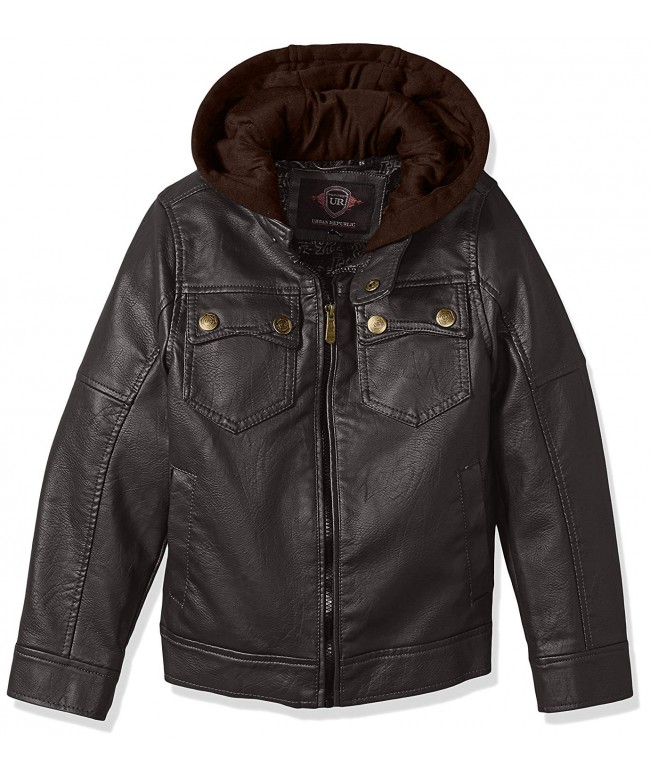 Urban Republic Leather Jacket Pocket