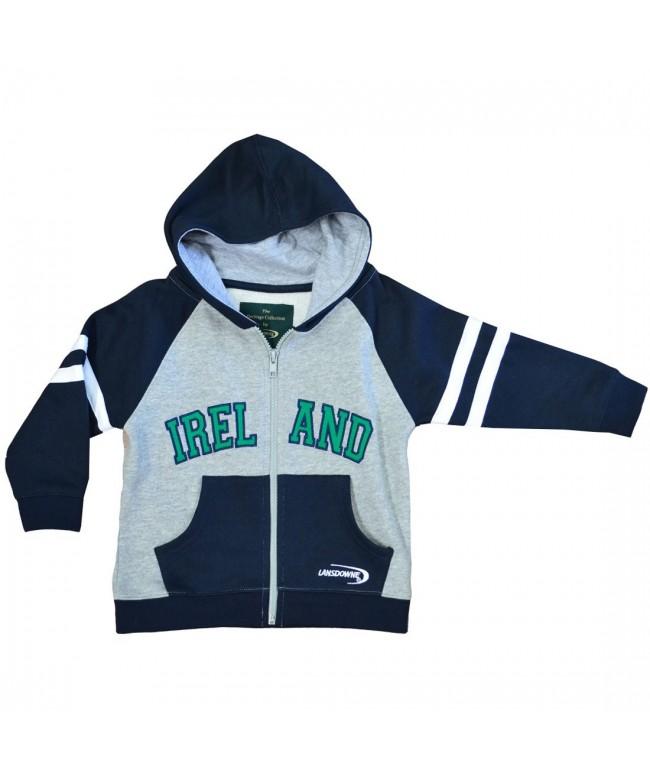 Lansdowne Navy Grey Ireland Hoodie