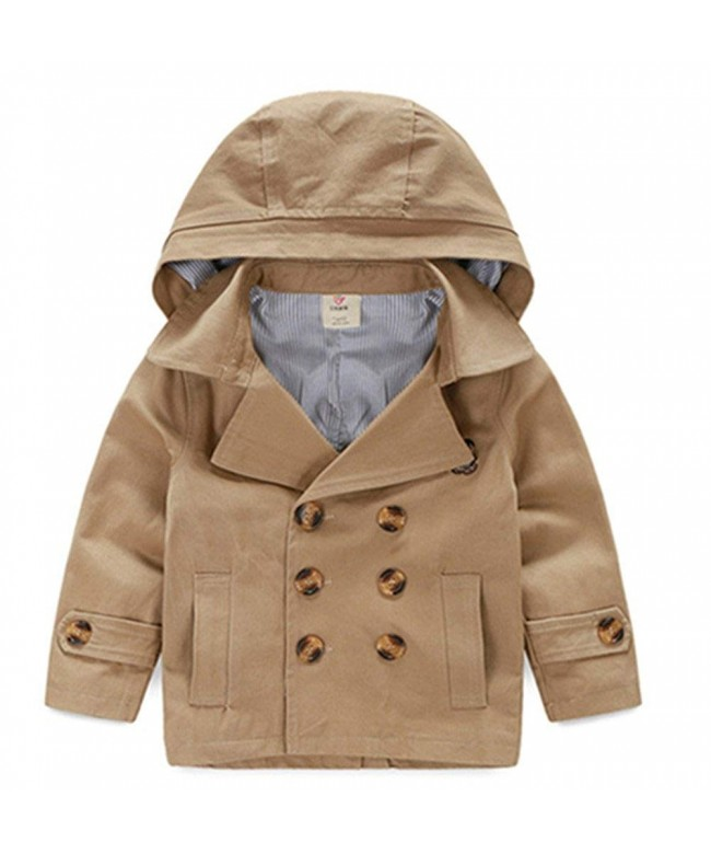 LJYH Toddler Classic Peacoat Hooded