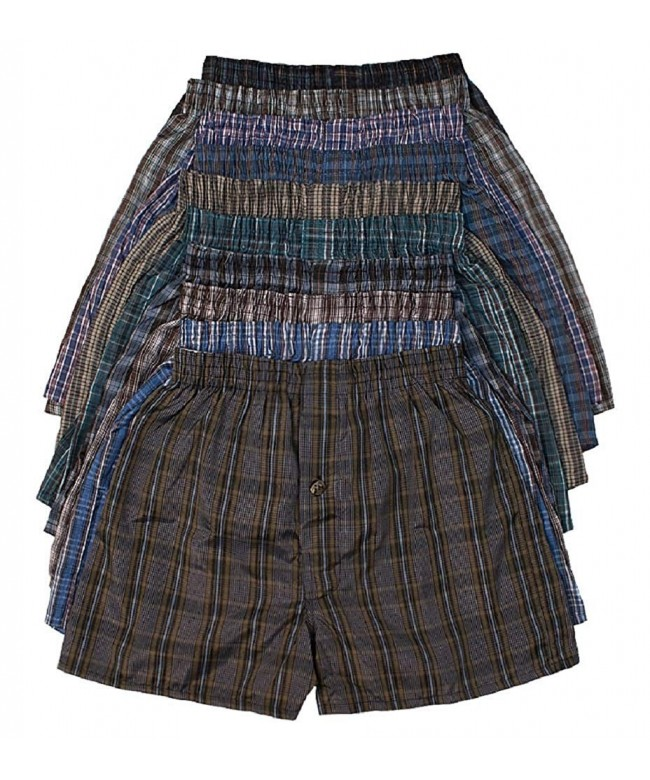 ToBeInStyle Cotton Blend Tartan Patterned Shorts