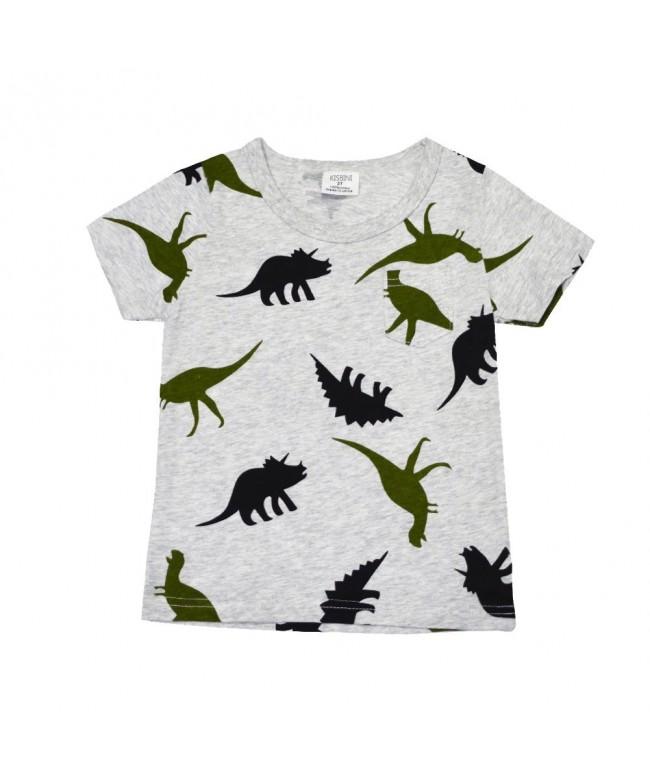 KISBINI Cartooon Dinosaurs Light T Shirts