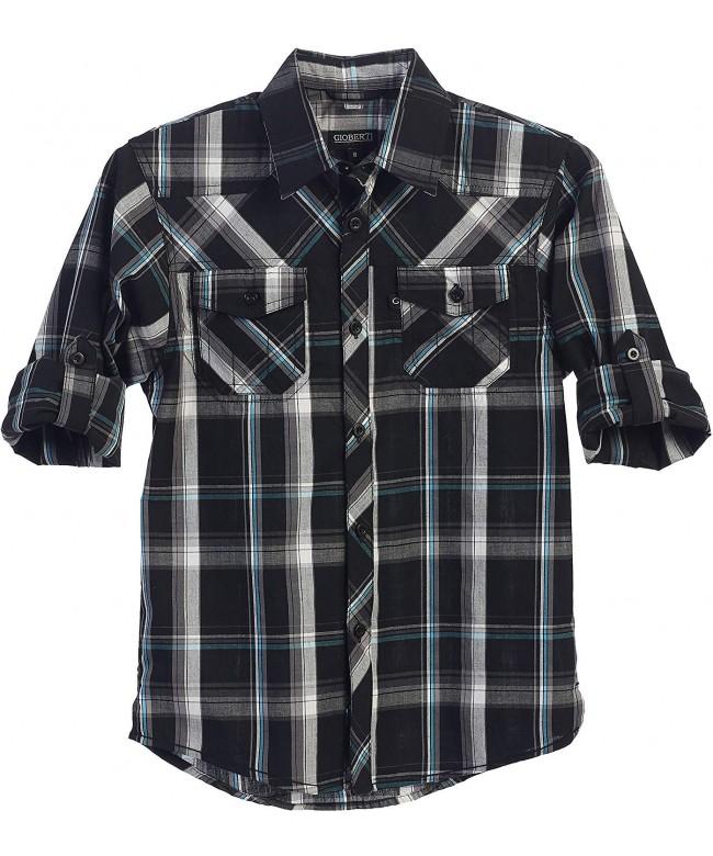 Gioberti Sleeve Plaid Checked Shirt