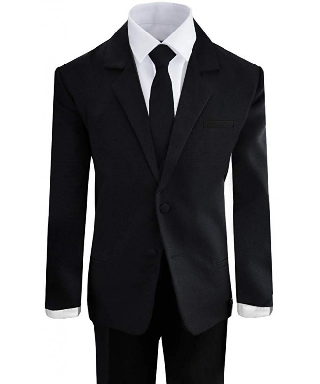 Black Bianco Boys Formal Shirt