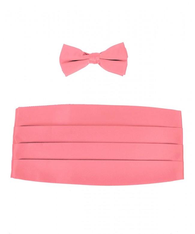 Pink Satin Tuxedo Bowtie Cummerbund