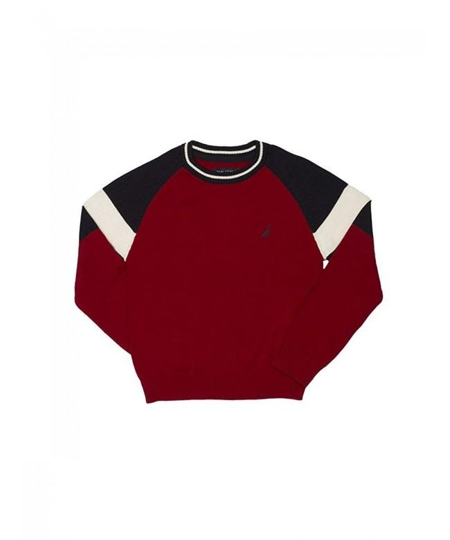 Nautica Raglan Color Crewneck Sweater