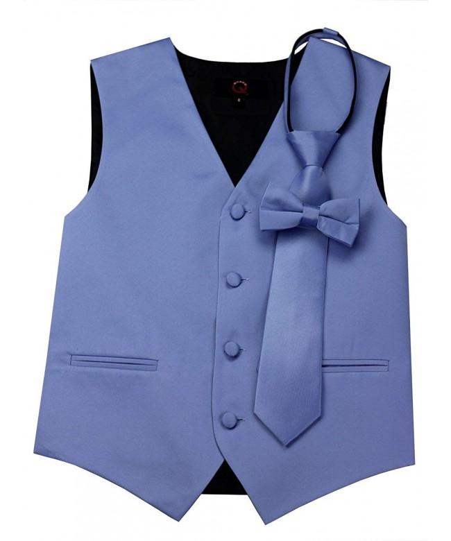 Brand Tuxedo Zipper Bow Tie Cornflower