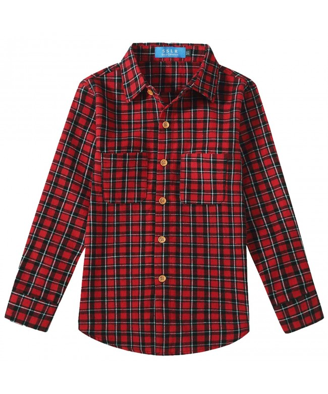 SSLR Button Sleeve Casual Flannel