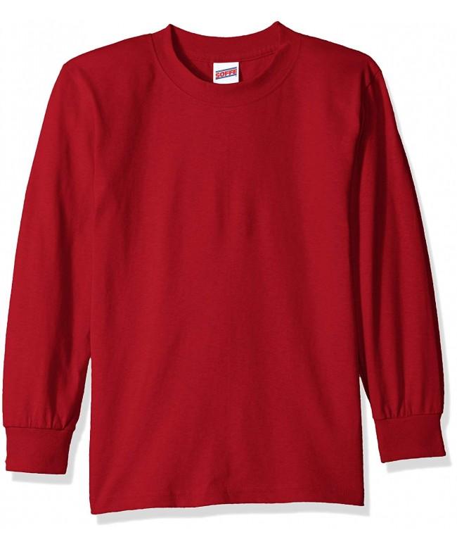 Soffe Boys Sleeve Cotton T Shirt