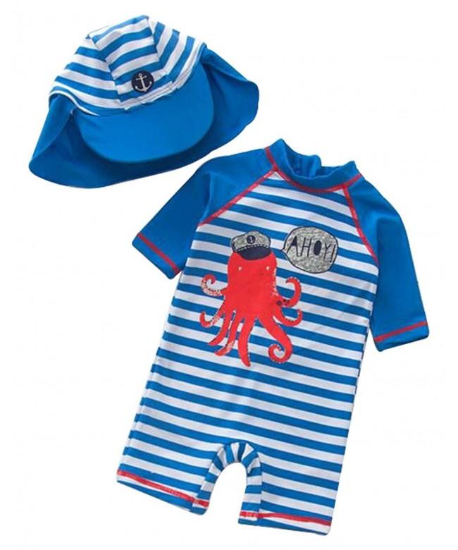 UNIQUEONE Striped Swimsuit Protection Swimwear