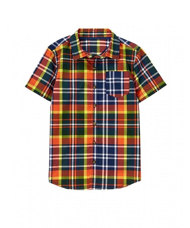 Crazy Boys Short Sleeve Button Shirt