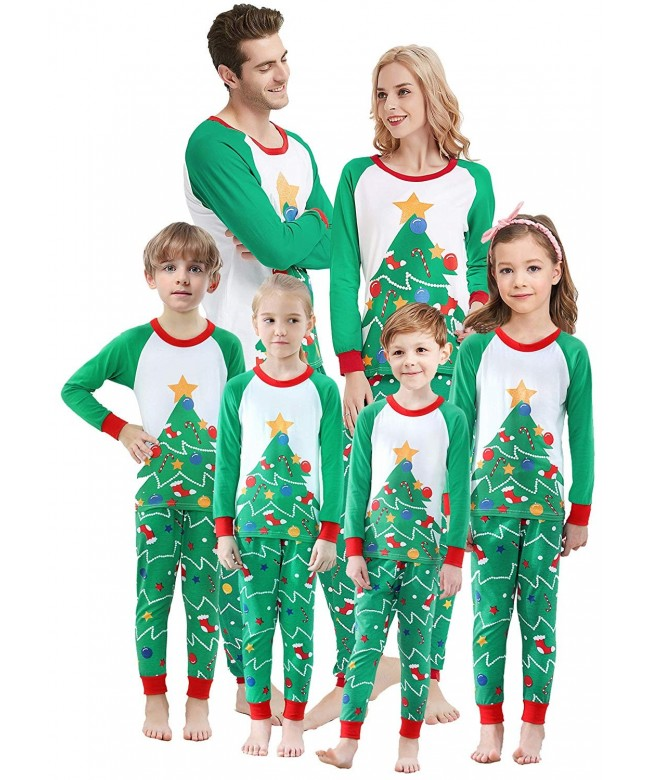 Matching Christmas Pjs.Matching Family Christmas Pajamas Boys Girls Tree Jammies Children Pjs Gift Set Green Christmas Tree Cw18irlwh3x