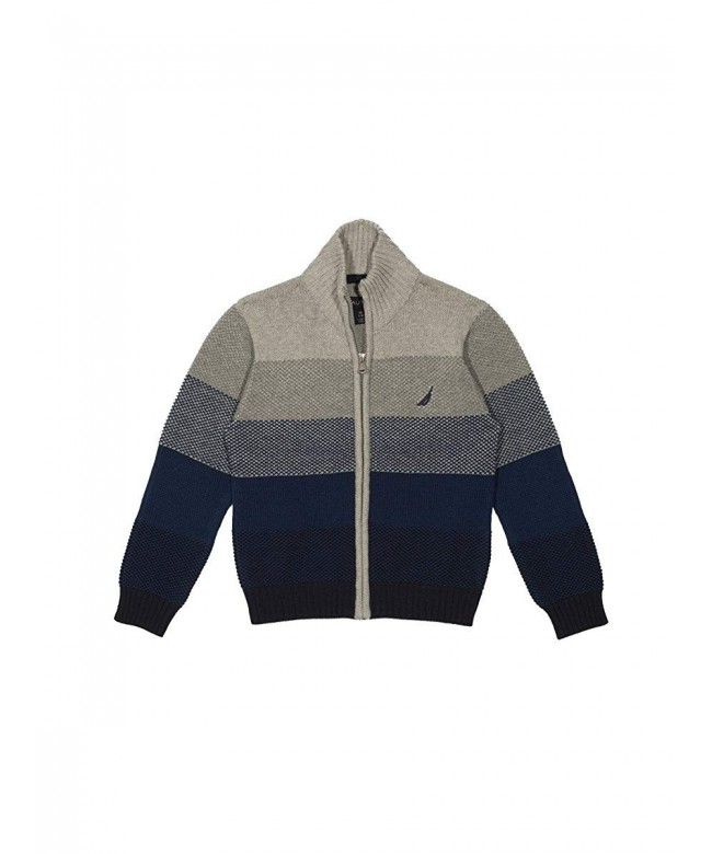 Nautica Textured Block Stripe Sweater