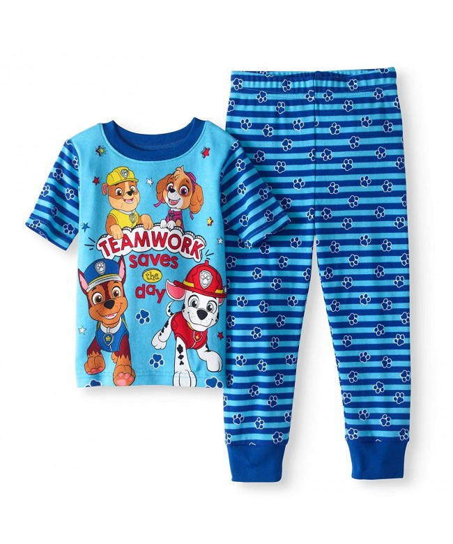Nickelodeon Paw Patrol Little Boy 4 PC Short Sleeve Tight Fit Cotton Pajama Set Size 5T