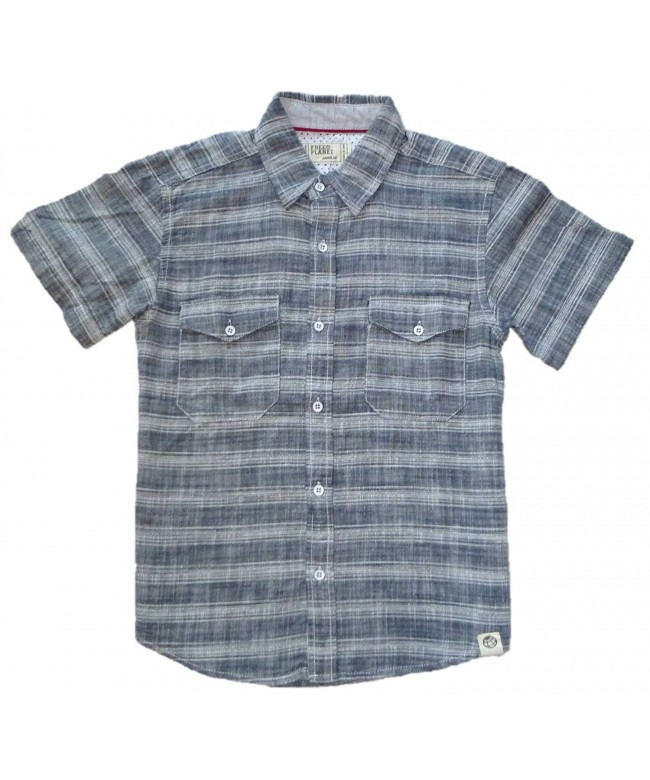 Free Planet Variable Striped Button Down