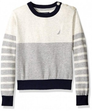 Nautica Boys Sweater Button Shoulder